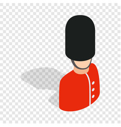 Royal guardsman isometric icon vector