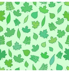 Seamless Background with tree leaves greenery and vector image vector image