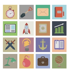 Set flat icons vector image vector image