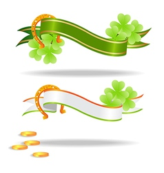st patricks banners 2601 vector image