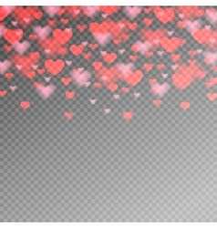 valentines day pattern with red heart on vector image vector image