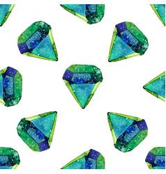 watercolor of diamond crystals vector image