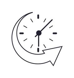 clock and arrow icon vector image