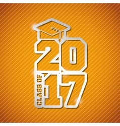 Congratulations class of 2017 card vector