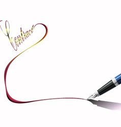 Pen writing vector