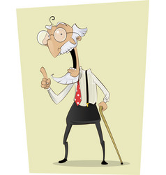 Grandpa old man person character vector