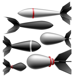 Rocket bomb set vector image