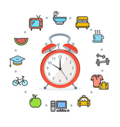 Daily routines concept healthy life vector