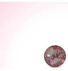 Reflective disco ball pink vector