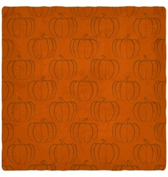 old background with pumpkins seamless pattern vector image