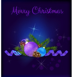 Christmas purple card vector