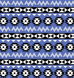 Tribal Aztec seamless pattern on purple background vector image