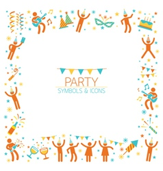 Party People Frame vector image
