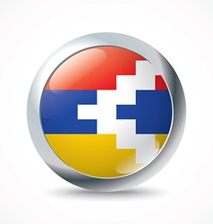 Nagorno-karabakh republic flag button vector