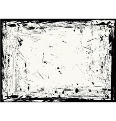 horizontal grungy frame vector image