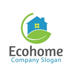 Eco home design vector