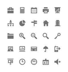 Business and office icons 1 vector