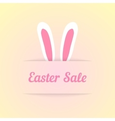 Easter sale with ears in pocket vector