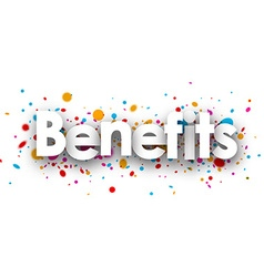 Benefits paper card vector
