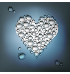 Heart shaped water drops vector