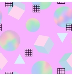 Geometric trendy 80s retro seamless pattern vector