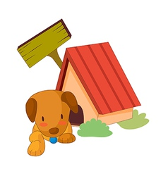 A puppy in the house vector image vector image