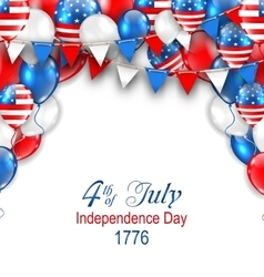 American Traditional Celebration Background for vector image