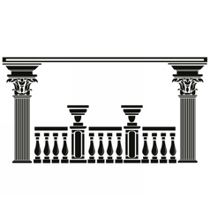 Architectural decorative columns vector