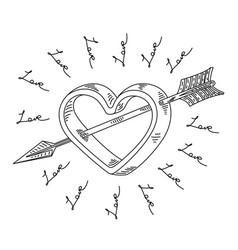 Arrow of cupid vector