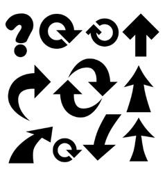 arrows and symbols vector image vector image