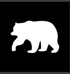 bear white color icon vector image