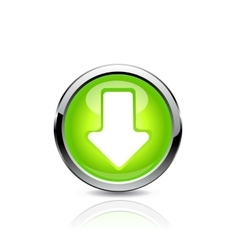 Button arrow vector image
