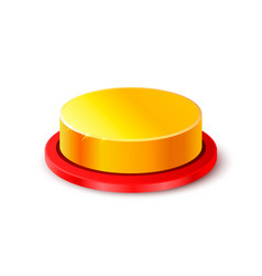 button gold 3d object on the white background vector image