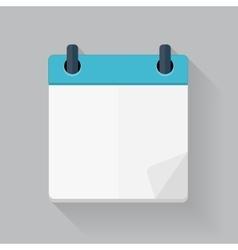 Calendar Flat Daily Icon Template vector image