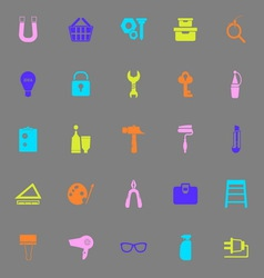 Diy color icons on gray background vector
