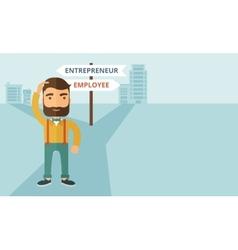 Employee to entrepreneur vector image
