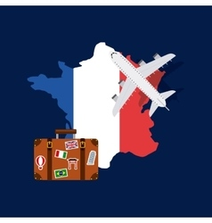 france and travel design vector image