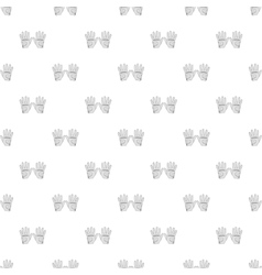 Golf gloves pattern cartoon style vector image vector image