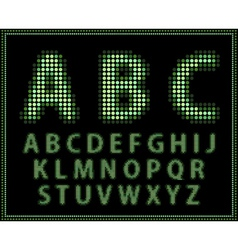halftone alphabet full set vector image vector image