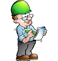Hand-drawn of an Construction Manager vector image vector image
