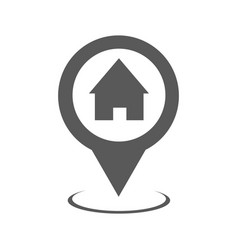 home map pointer icon simple vector image