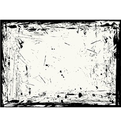 horizontal grungy frame vector image