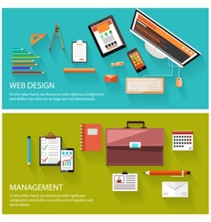 Management and web design concept vector image vector image
