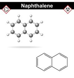 Naphthalene molecule vector image vector image