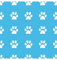 Paw print straight pattern vector