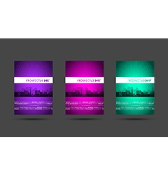 Prospectus purple pink green group vector