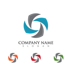 Recycle logo template vector