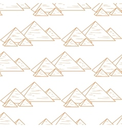 seamless orande pyramids vector image