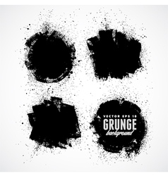 Set of four grunge banners vector