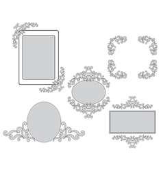 Set - tracery and frames for design vector